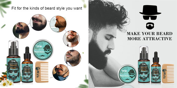 Kit Cuidado de Barba chollo en Amazon España