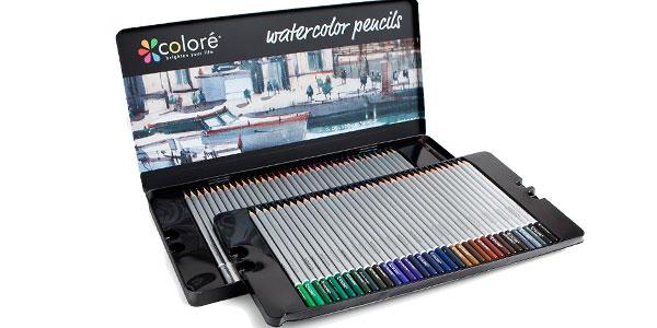 Lápices para Acuarela Coloré – 72 Lápices de Colores Solubles en Agua para Estudiantes de Arte y Profesionales baratos en Amazon