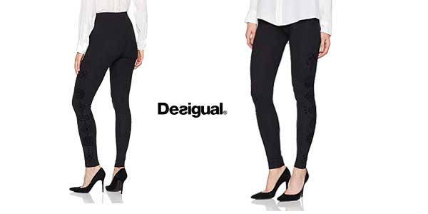 Leggings Desigual Marioti en color negro chollo en Amazon Moda
