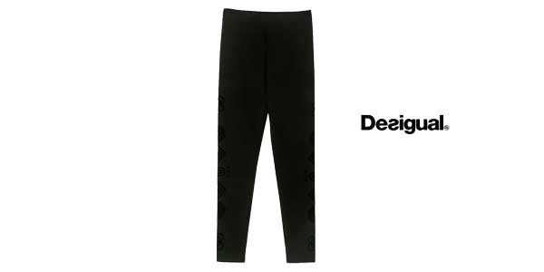 Leggings Desigual Marioti en color negro chollazo en Amazon Moda