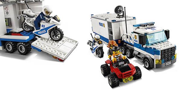 Lego City Centro de control ladrones y policías moto camión quad chollo