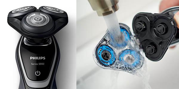máquina de afeitar eléctrica Philips S5110/06 cabezal Flex y cuchillas de precisión para pieles sensibles oferta