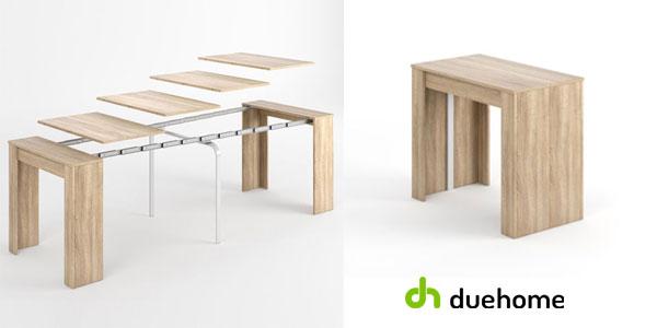 Mesa de comedor en roble canadian extensible hasta 268 cm (10 comensales) de Duehome chollo en eBay