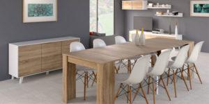Mesa de comedor en roble canadian extensible hasta 268 cm (10 comensales) de Duehome barata en eBay