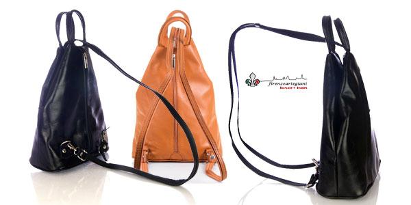 Bolso mochila Firenze Artegiani de piel auténtica para mujer chollo en Amazon Moda