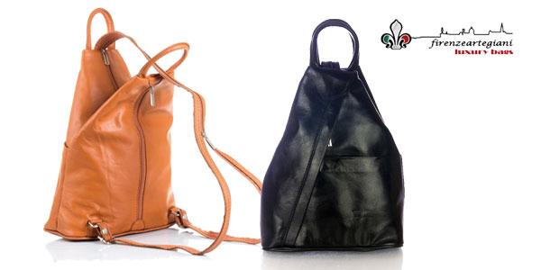 Bolso mochila Firenze Artegiani de piel auténtica para mujer barata en Amazon Moda