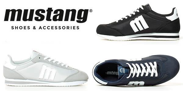 Mustang Chap zapatillas diseño casual para hombre baratas
