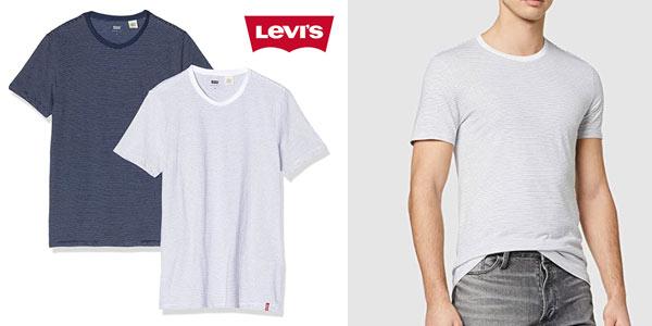 Pack 2 camisetas Levi's Slim 2pk Crewneck baratas en Amazon