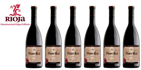 Pack de 6 botellas de vino tinto Monte Real Gran Reserva Rioja barato