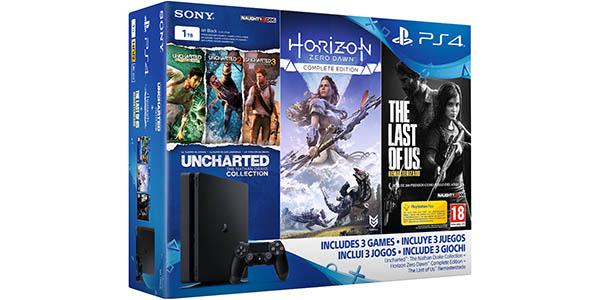 Pack PS4 Slim + Juegos exclusivo El Corte Inglés