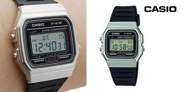 Casio Collection F-91WM-7AEF Reloj Digital Unisex con Correa de Resina chollo en Amazon España