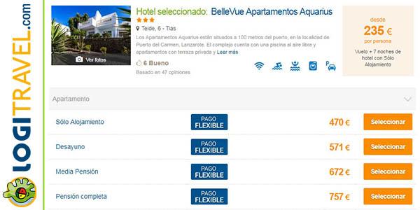 reservar viaje a Lanzarote en Logitravel diciembre 2017