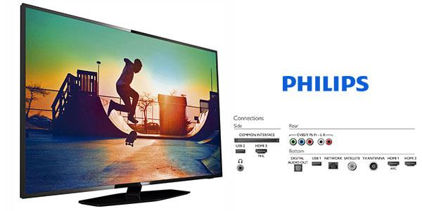 Smart TV Philips 50PUS6162 UHD de 50 pulgadas rebajada