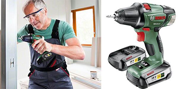 taladro percutor para atornillar Bosch PSR 18 LI-2 con baterías recargables y maletín chollo