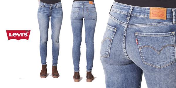 Chollazo Pantalones Vaqueros Levi S 711 Innovation Jean Skinny Para Mujer Por Solo 58 70 Con Envio Gratis 46 De Descuento