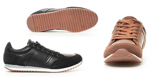 zapatillas cómodas Piero Black Barred gran relación calidad-precio