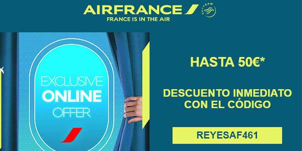 Air France código descuento reyes 2019