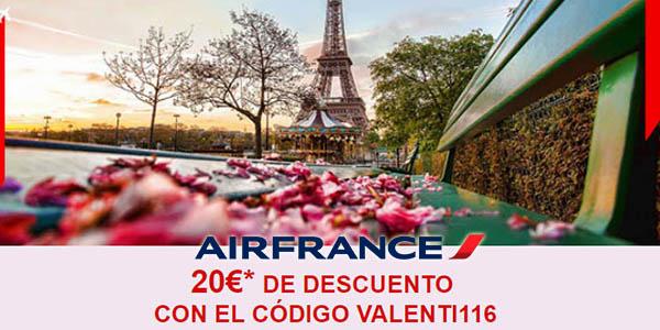 Air France cupón descuento San Valentín 2018