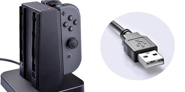 Base de Carga para 4 Joy-Con de Nintendo Swich