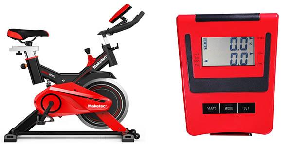 bicicleta estática Maketec volante inercia 24 kg chollo