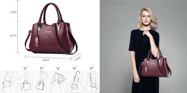Bolso bandolera Bestou tipo tote bag en 3 colores chollazo en Amazon moda