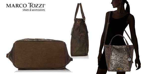 Bolso Shopper Marco Tozzi 61023 en color marrón chollazo en Amazon Moda