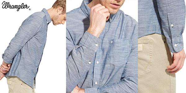 Camisa de manga larga Wrangler para hombre al mejor precio