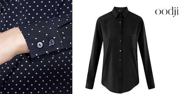 Blusas rectas Oddji con bolsillo en el pecho en varios colores chollazo en Amazon Moda