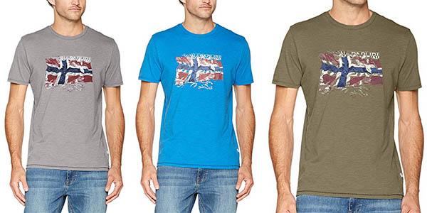 camiseta Napapijri Selo algodón manga corta chollo