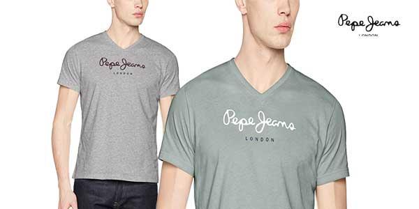 Camiseta Pepe Jeans Eggo V para hombre chollo en Amazon Moda