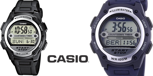 Reloj Casio Collection W-756-2AVES negro para hombre barato en Amazon Moda