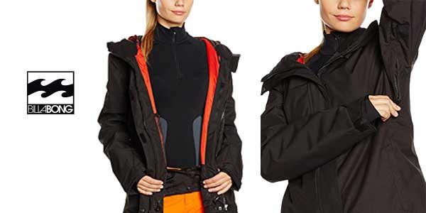 Chaqueta de esquí Billabong Akira Plain para mujer chollo en Amazon Moda