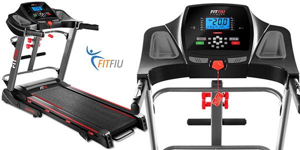 Cinta de correr FitFiu plegable de 2000W inclinable con pulsómetro