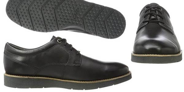 Clarks Folcroft Plain zapatos cuero cómodos oferta