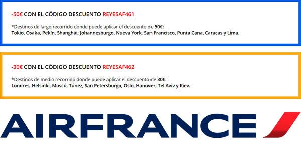 código descuento Reyes Air France vuelos enero 2019