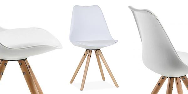 conjunto sillas comedor diseño nórdico blanco oferta
