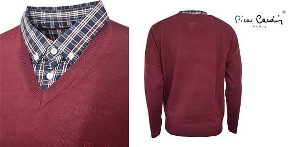 Jersey de punto Pierre Cardin con cuello de camisa chollazo en Amazon Moda