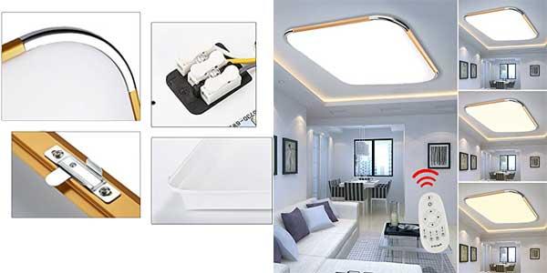 Plafón LED VINGO regulable con mando a distancia ideal para salón o dormitorio chollo en Amazon