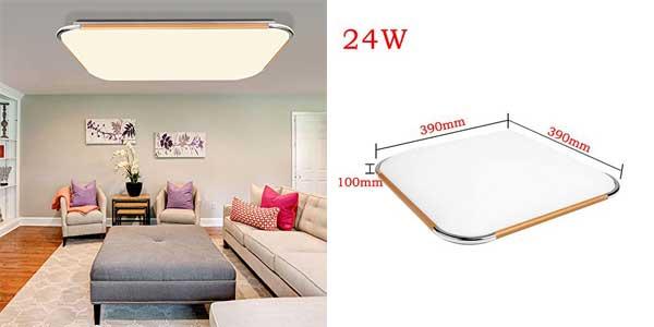 Plafón LED VINGO regulable con mando a distancia ideal para salón o dormitorio barato en Amazon