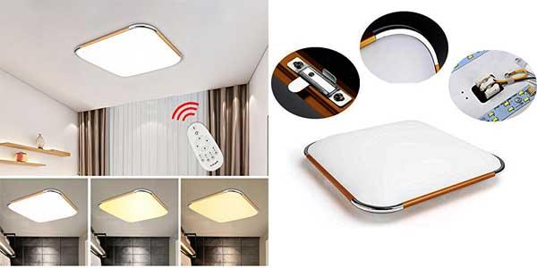Plafón LED VINGO regulable con mando a distancia ideal para salón o dormitorio chollazo en Amazon