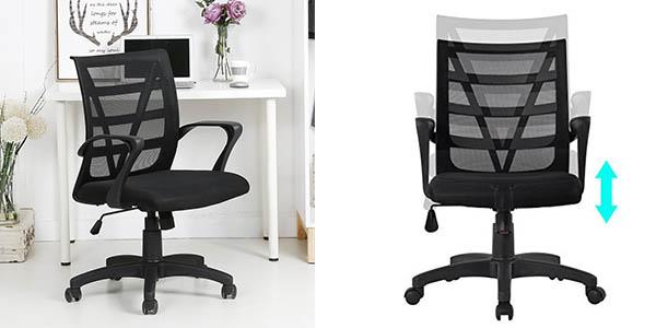 Langria silla escritorio cómoda transpirable con sistema de bloqueo