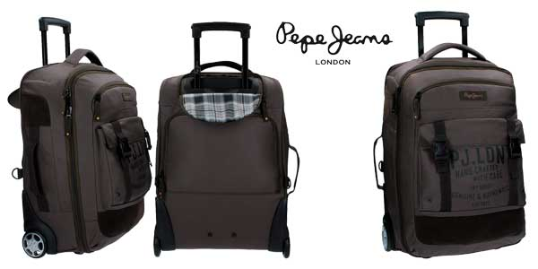 Maleta híbrida Pepe Jeans Army mochila trolley de 41.8 Litros barata en Amazon España