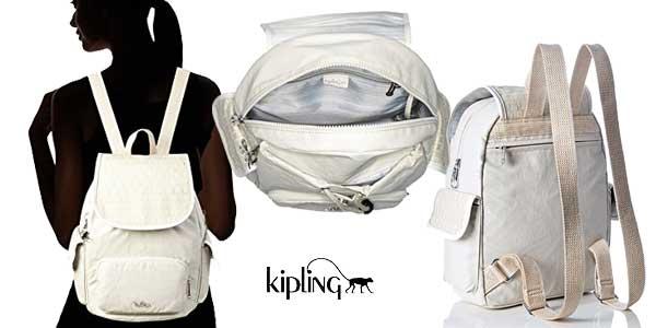 Bolso mochila Kipling City Pack S para mujer en dos colores chollo en Amazon Moda
