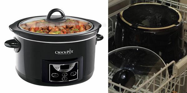 Olla de cocción lenta digital Crock-Pot SCCPRC507B-050 de 4,7 litros con tapa de vidrio en oferta