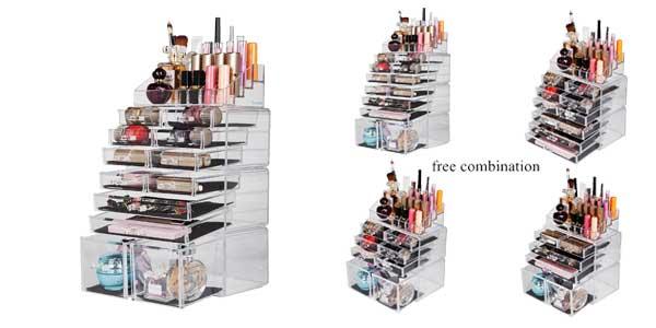 Organizador de Maquillaje Ebenne de Readaeer con 12 Niveles Ajustables chollazo en Amazon España