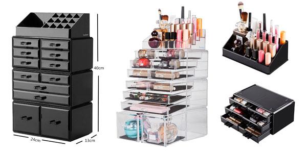 Organizador de maquillaje modular barato en amazon