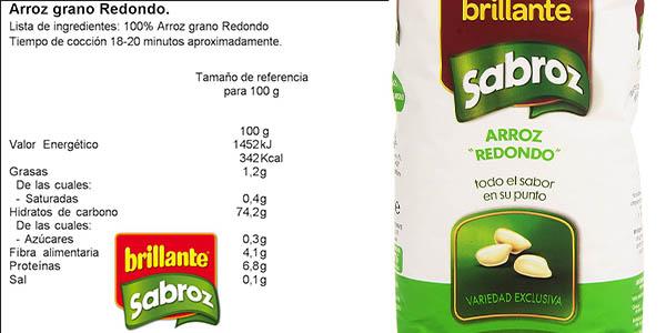 pack 5 paquetes arroz Brillante Sabroz grano redondo natural precio chollo
