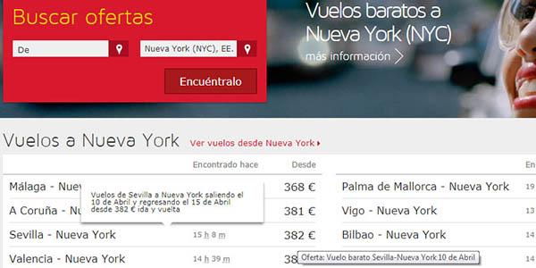 promoción Iberia vuelos descuento invierno 2018