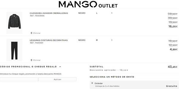 promoción Mango Outlet ropa rebajada mujer hombre niños
