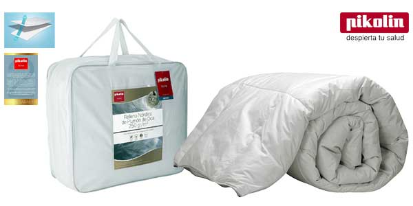 Pikolin Home - Relleno nórdico / edredón de plumón de oca 92%, funda 100% algodón de percal barato en Amazon Hogar